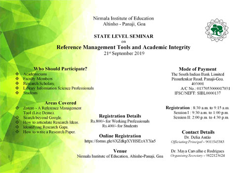 State Level Seminar